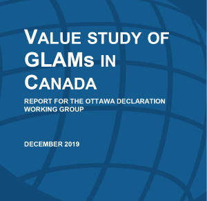 Cover of Value Study of Galleries, Libraries, Archives and Museums (GLAMs) in Canada